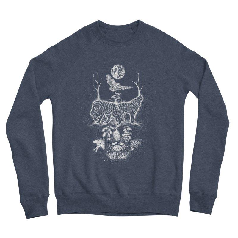 The Moon XVIII Men's Sponge Fleece Sweatshirt by Black Banjo Arts