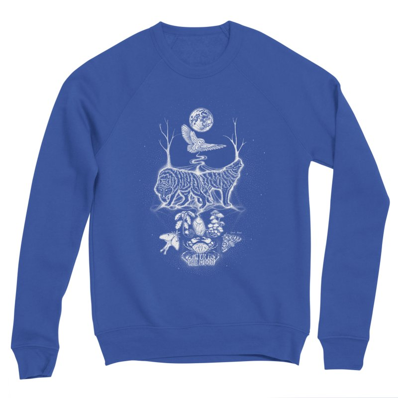 The Moon XVIII Men's Sweatshirt by Black Banjo Arts