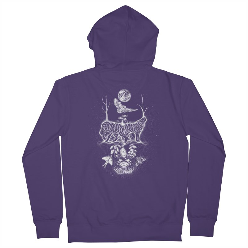 The Moon XVIII Women's Zip-Up Hoody by Black Banjo Arts