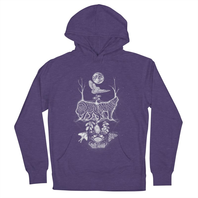 The Moon XVIII Women's French Terry Pullover Hoody by Black Banjo Arts
