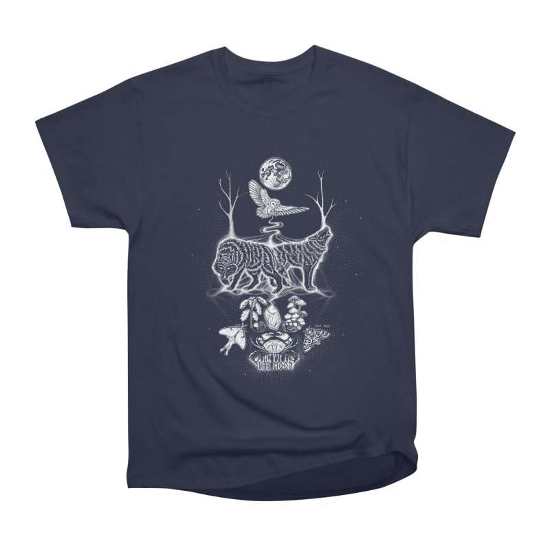 The Moon XVIII Men's Heavyweight T-Shirt by Black Banjo Arts