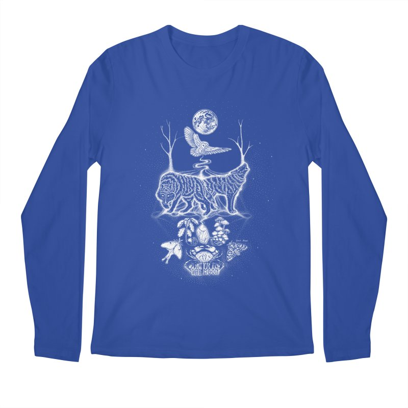 The Moon XVIII Men's Regular Longsleeve T-Shirt by Black Banjo Arts