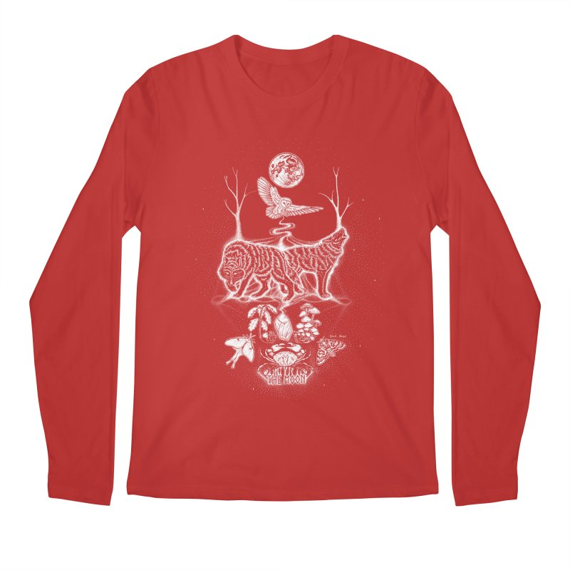 The Moon XVIII Men's Regular Longsleeve T-Shirt by Black Banjo Arts