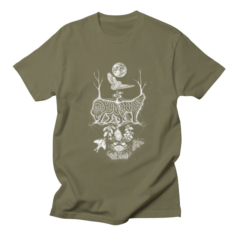 The Moon XVIII Men's Regular T-Shirt by Black Banjo Arts