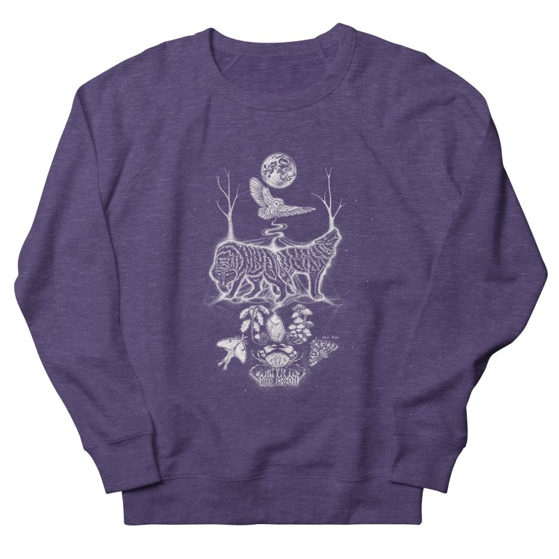 The Moon XVIII Men's French Terry Sweatshirt by Black Banjo Arts