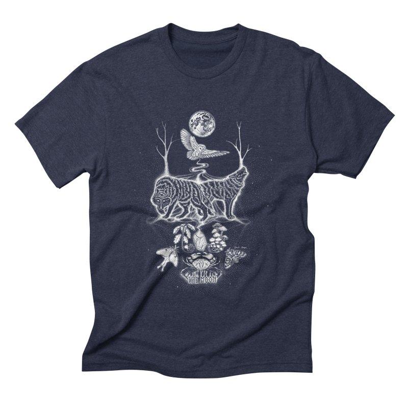 The Moon XVIII Men's Triblend T-Shirt by Black Banjo Arts