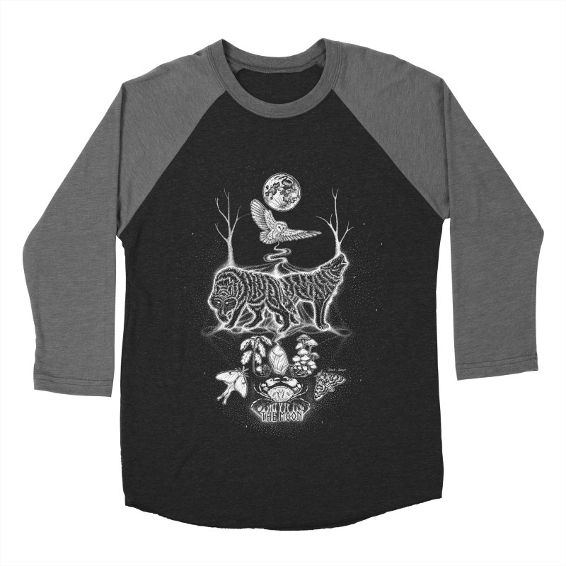 The Moon XVIII Women's Baseball Triblend Longsleeve T-Shirt by Black Banjo Arts