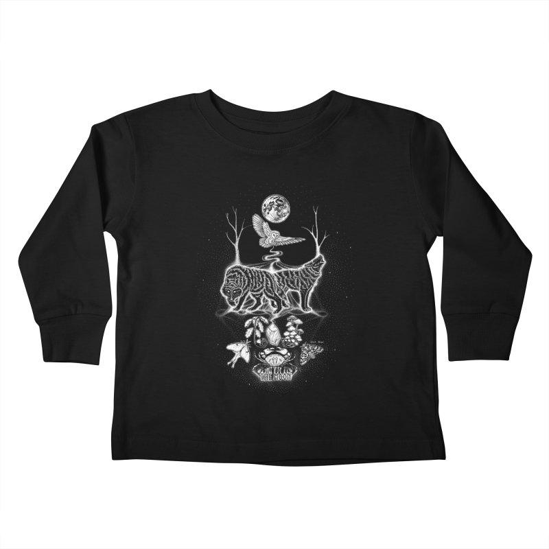 The Moon XVIII Kids Toddler Longsleeve T-Shirt by Black Banjo Arts