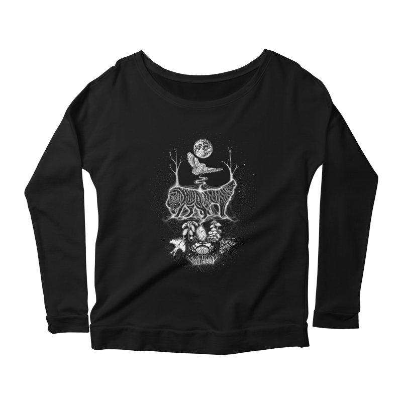The Moon XVIII Women's Scoop Neck Longsleeve T-Shirt by Black Banjo Arts