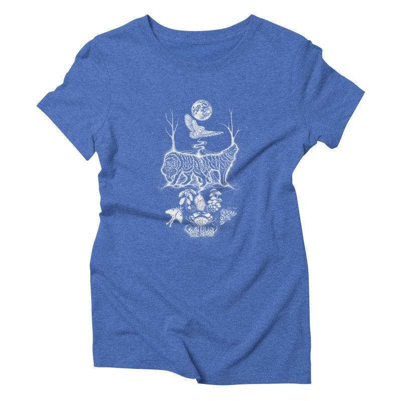 The Moon XVIII Women's Triblend T-Shirt by Black Banjo Arts