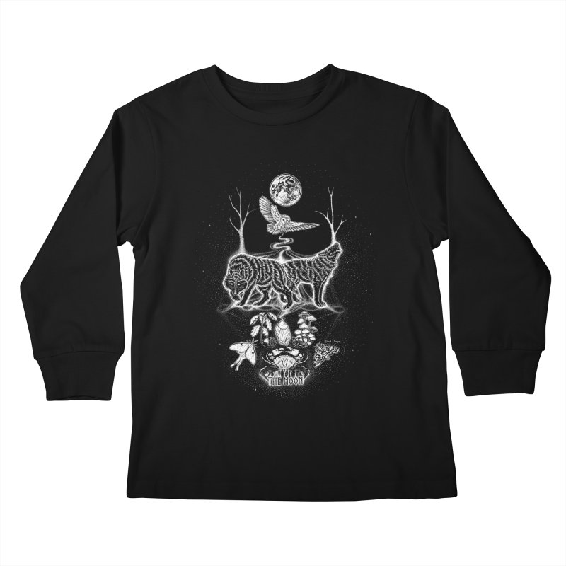 The Moon XVIII Kids Longsleeve T-Shirt by Black Banjo Arts