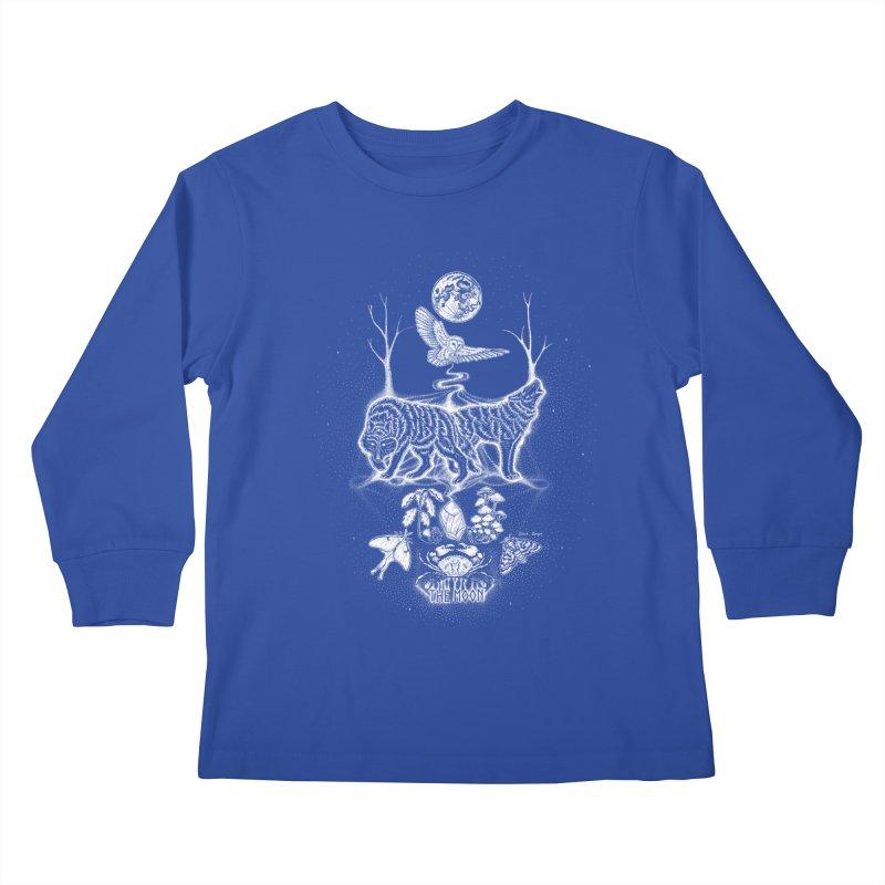The Moon XVIII Kids Longsleeve T-Shirt by Black Banjo Arts