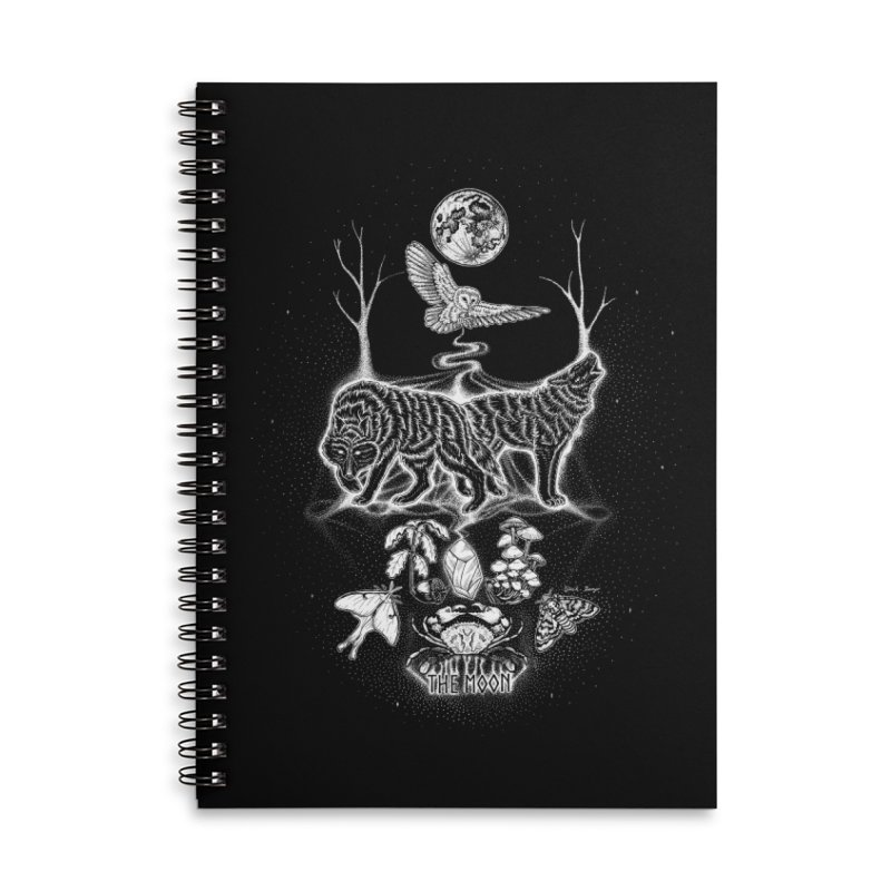 The Moon XVIII Accessories Lined Spiral Notebook by Black Banjo Arts