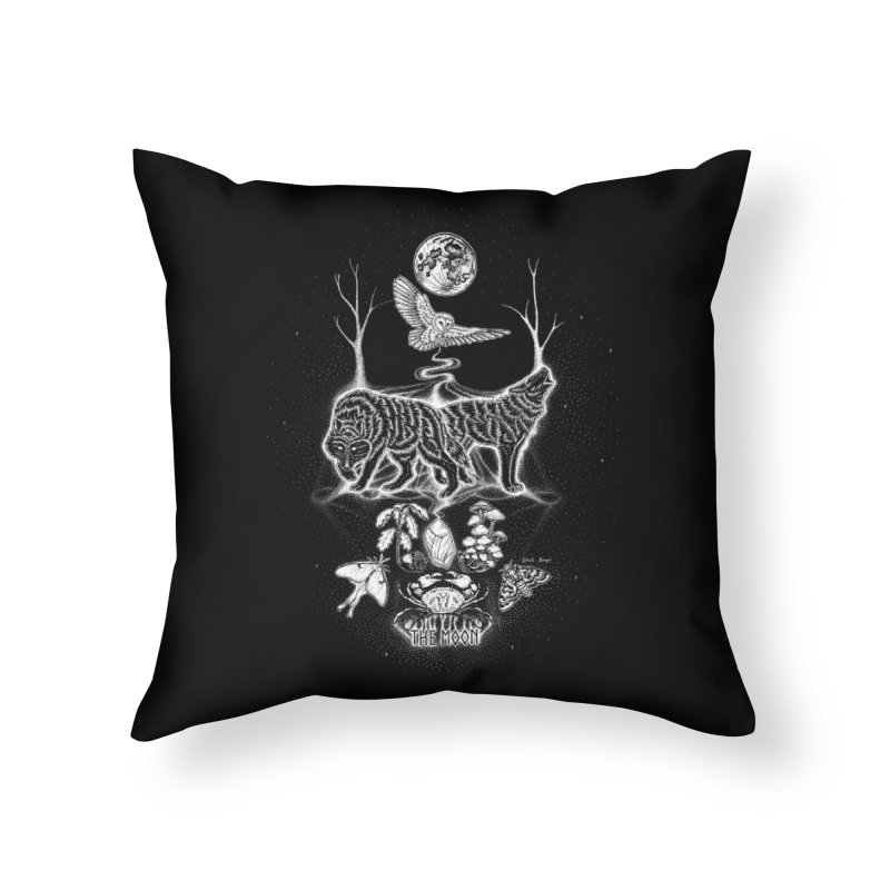 The Moon XVIII Home Throw Pillow by Black Banjo Arts