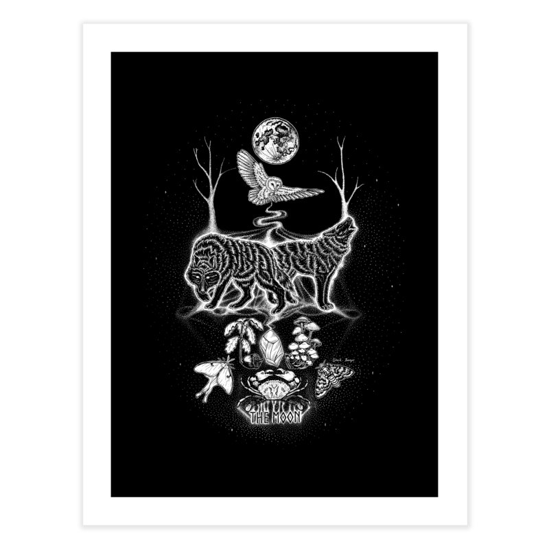 The Moon XVIII Home Fine Art Print by Black Banjo Arts