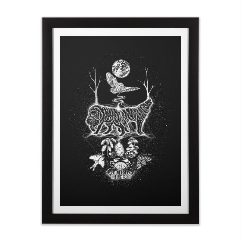 The Moon XVIII Home Framed Fine Art Print by Black Banjo Arts