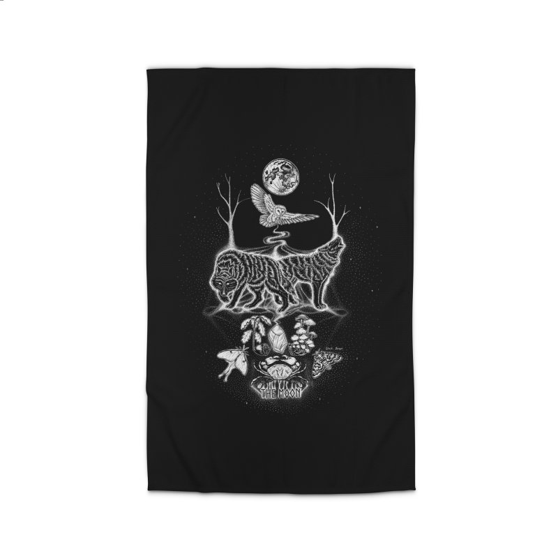 The Moon XVIII Home Rug by Black Banjo Arts
