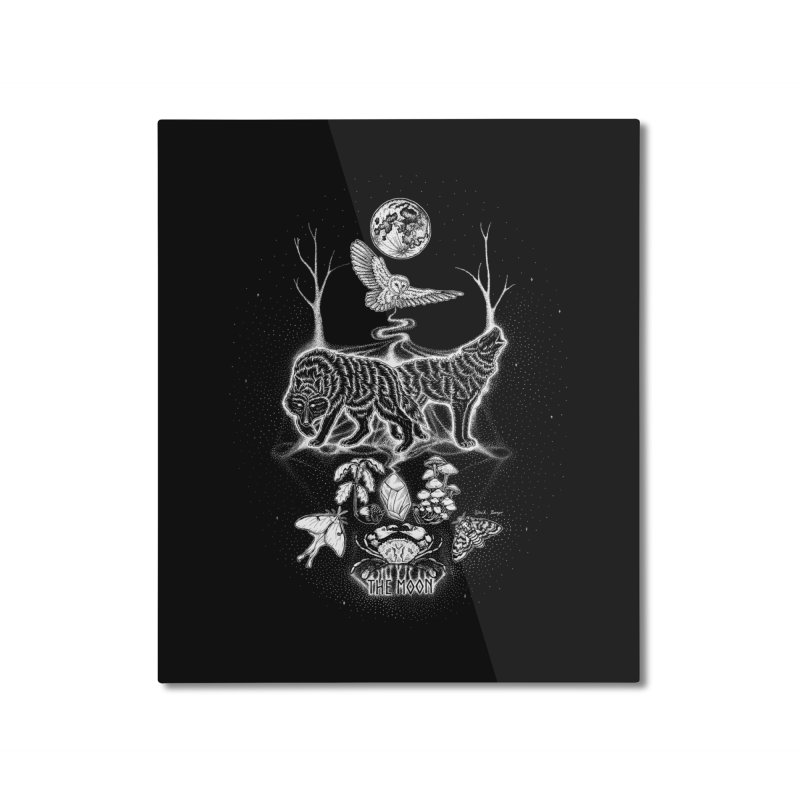 The Moon XVIII Home Mounted Aluminum Print by Black Banjo Arts