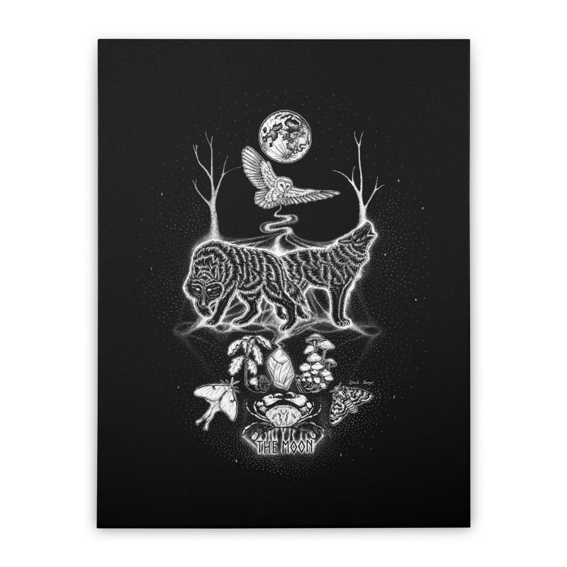 The Moon XVIII Home Stretched Canvas by Black Banjo Arts