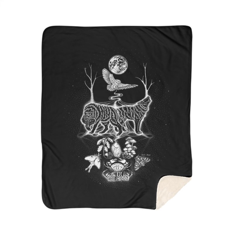 The Moon XVIII Home Sherpa Blanket Blanket by Black Banjo Arts