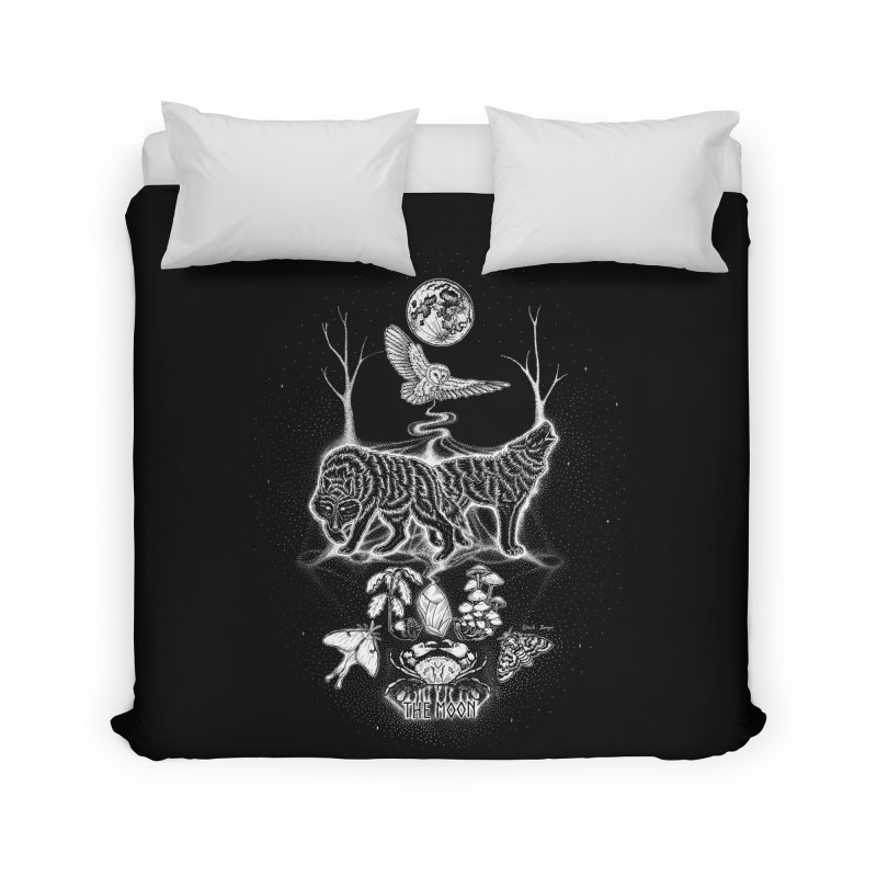 The Moon XVIII Home Duvet by Black Banjo Arts