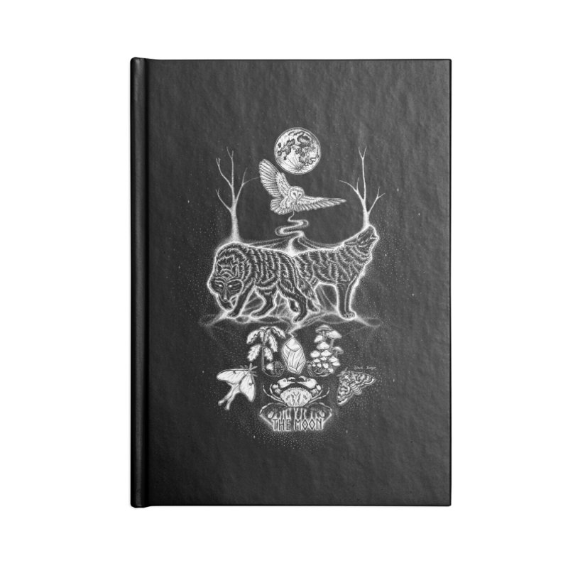 The Moon XVIII Accessories Lined Journal Notebook by Black Banjo Arts