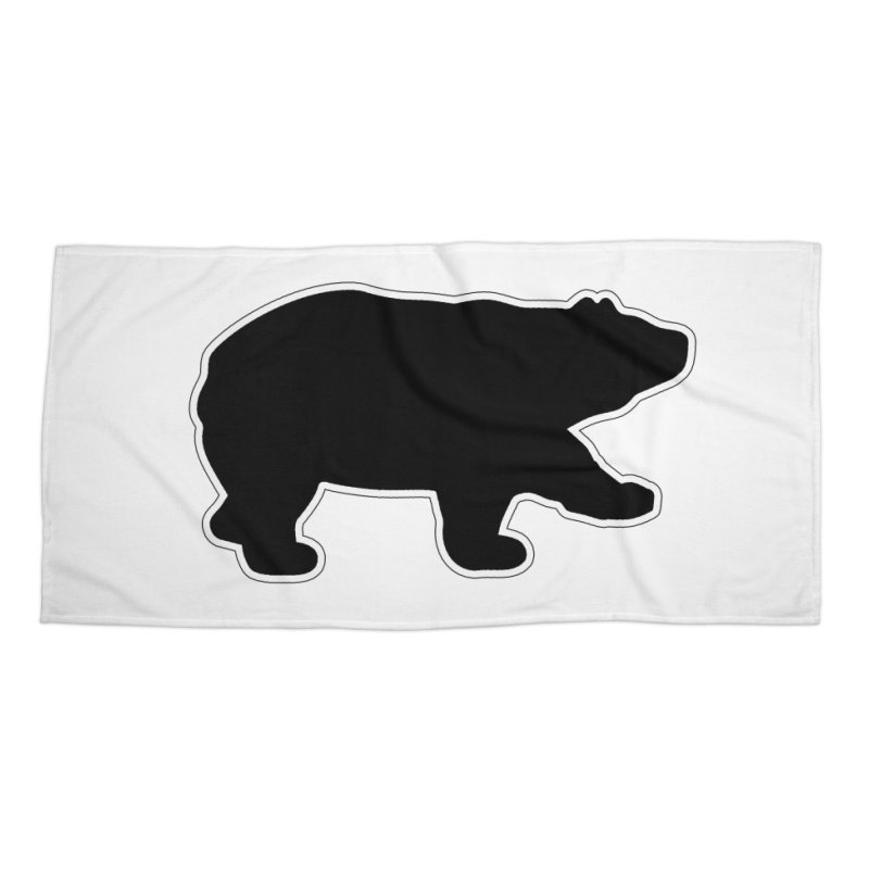 Black Bear Accessories Beach Towel by Black Bear Apparel