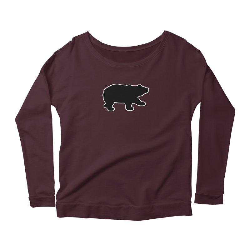 Black Bear Women's Scoop Neck Longsleeve T-Shirt by Black Bear Apparel