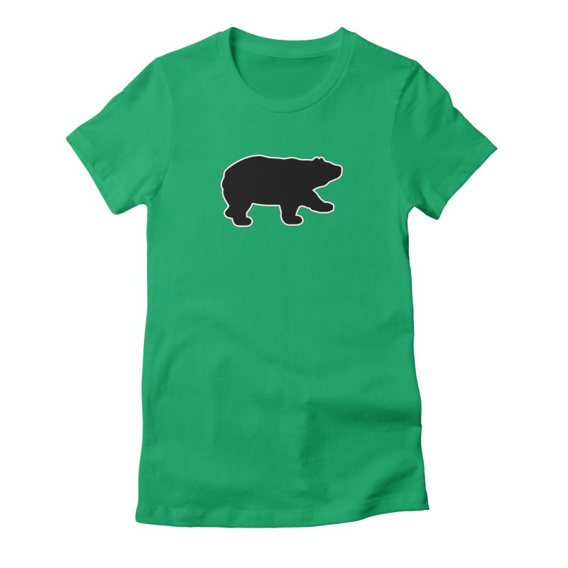 Black Bear Women's Fitted T-Shirt by Black Bear Apparel
