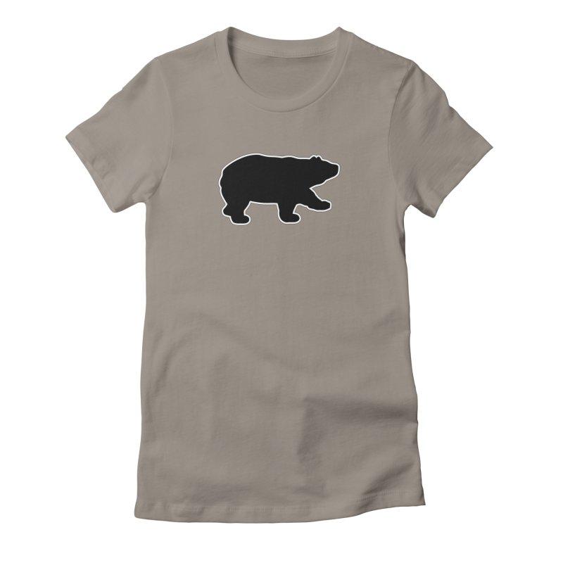 Black Bear Women's Fitted T-Shirt by Black Bear Apparel