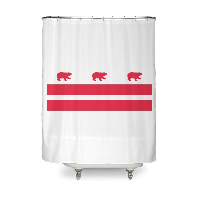 DC Bear Flag Home Shower Curtain by Black Bear Apparel