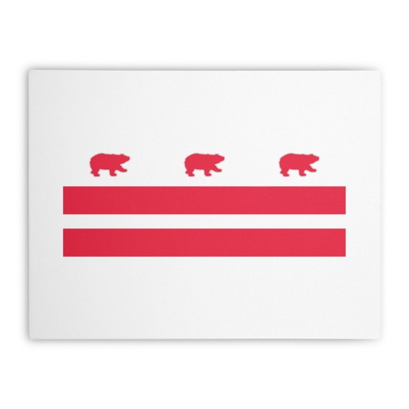 DC Bear Flag Home Stretched Canvas by Black Bear Apparel