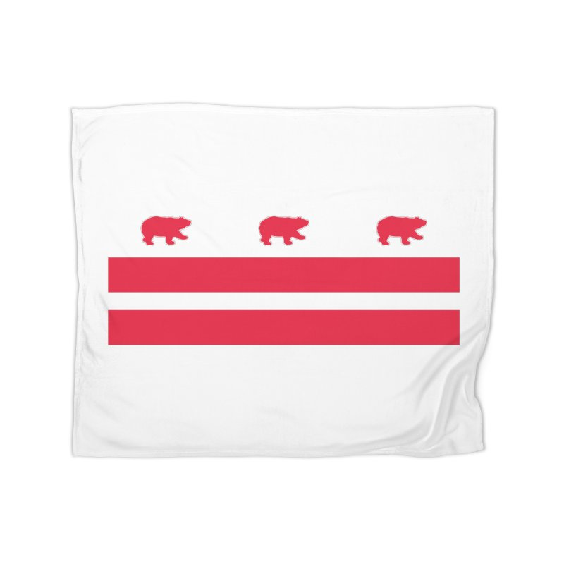 DC Bear Flag Home Fleece Blanket Blanket by Black Bear Apparel