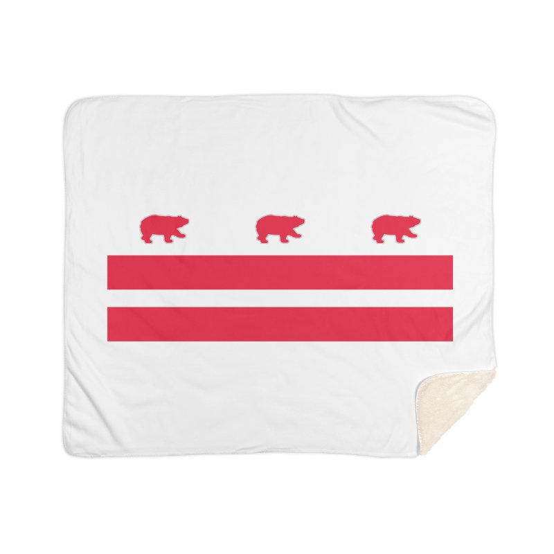 DC Bear Flag Home Sherpa Blanket Blanket by Black Bear Apparel