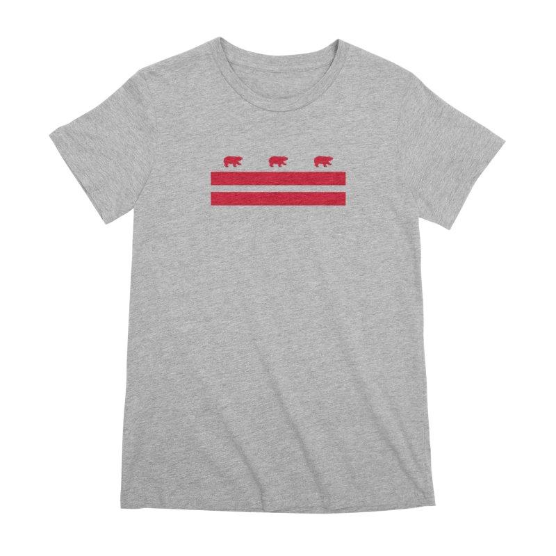 DC Bear Flag Women's Premium T-Shirt by Black Bear Apparel