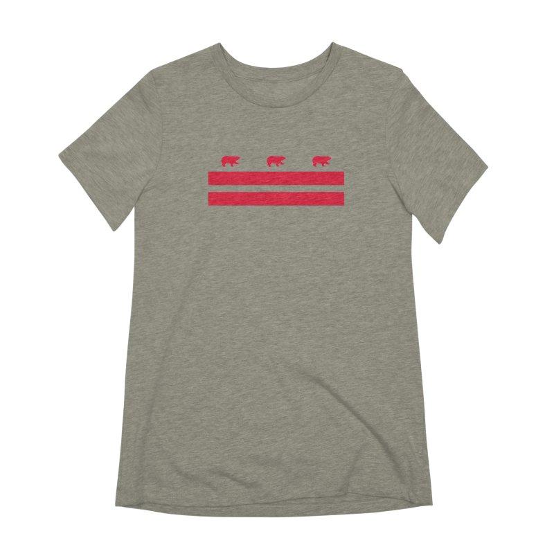 DC Bear Flag Women's Extra Soft T-Shirt by Black Bear Apparel