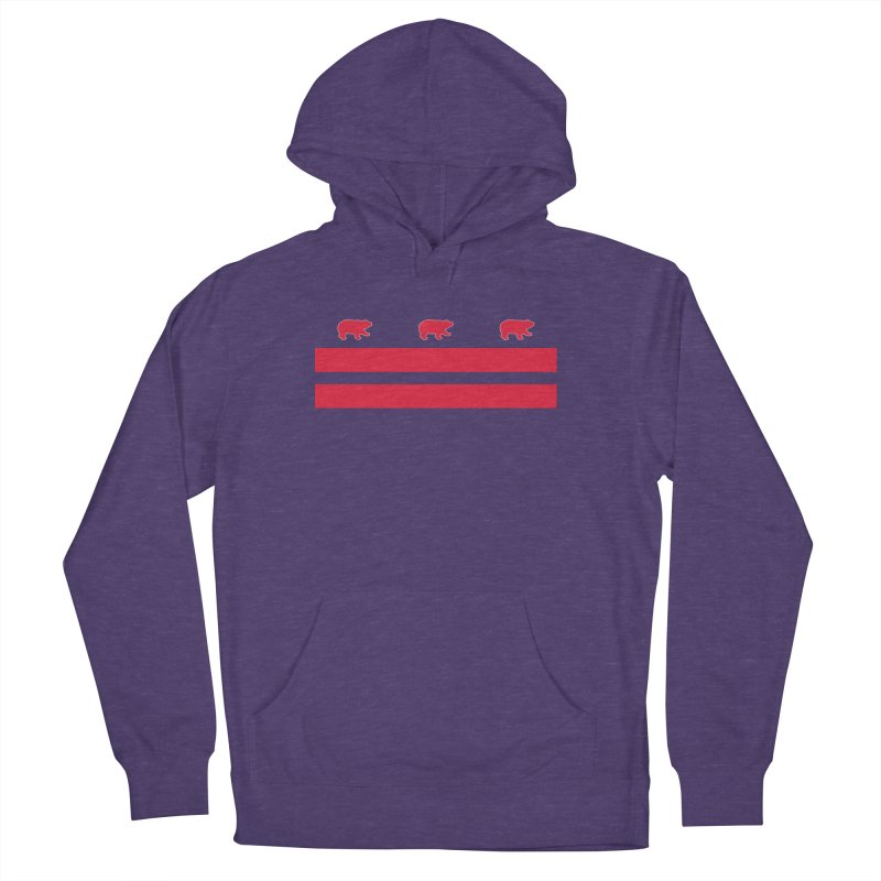 DC Bear Flag Women's French Terry Pullover Hoody by Black Bear Apparel