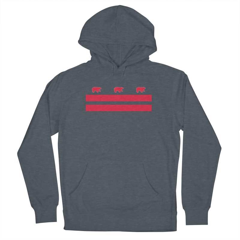 DC Bear Flag Men's French Terry Pullover Hoody by Black Bear Apparel