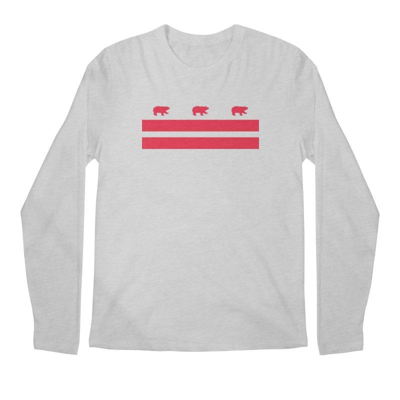 DC Bear Flag Men's Regular Longsleeve T-Shirt by Black Bear Apparel