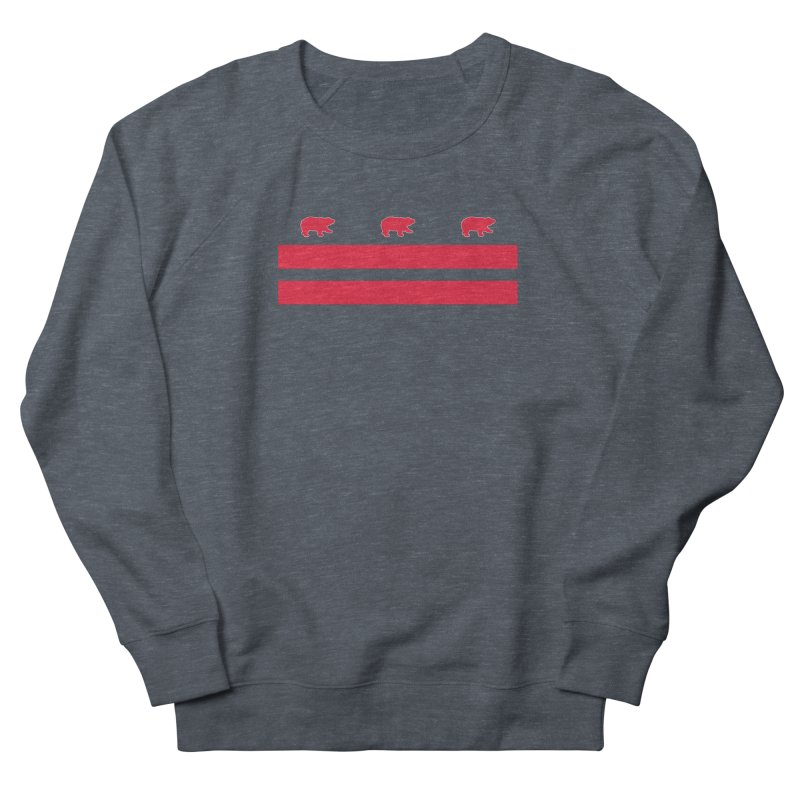 DC Bear Flag Women's French Terry Sweatshirt by Black Bear Apparel