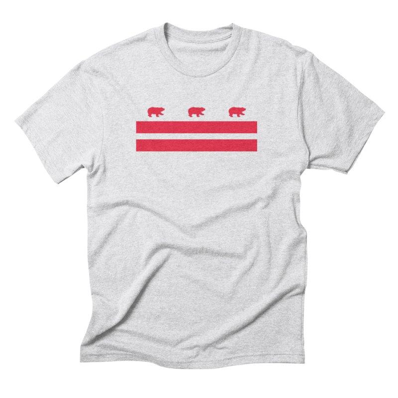 DC Bear Flag Men's Triblend T-Shirt by Black Bear Apparel