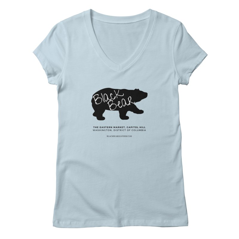 Eastern Market, Capitol Hill Women's Regular V-Neck by Black Bear Apparel