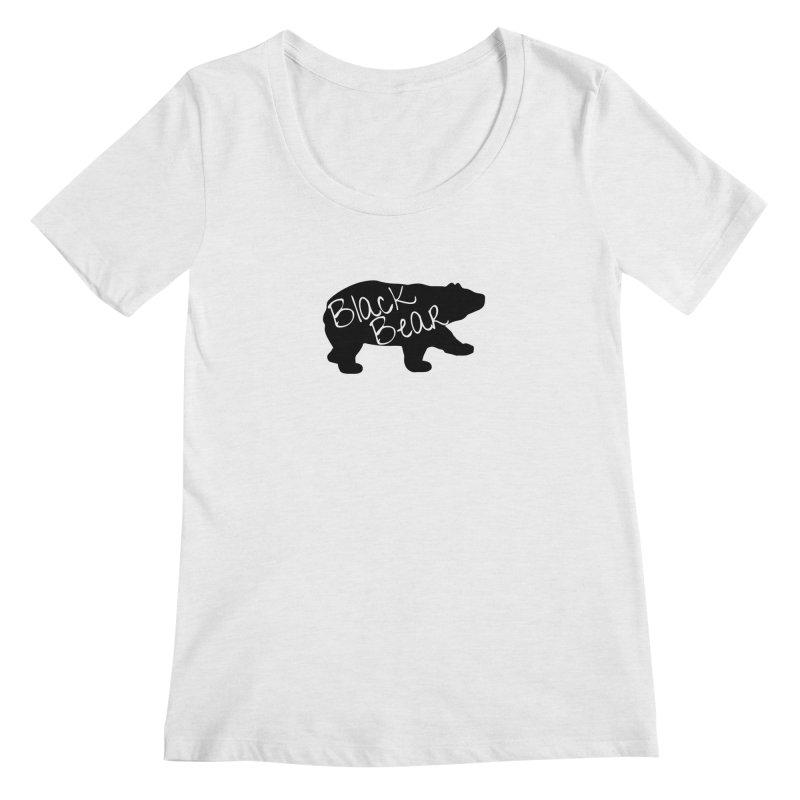 Black Bear Insider Women's Regular Scoop Neck by Black Bear Apparel