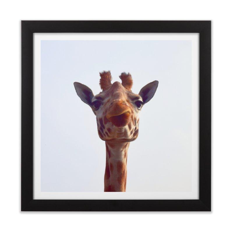 Giraffe Home Framed Fine Art Print by blackblizzard's Artist Shop