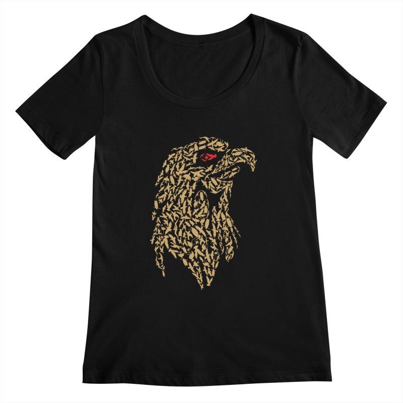 King Of Birds Women's Scoopneck by blackboxshop's Artist Shop