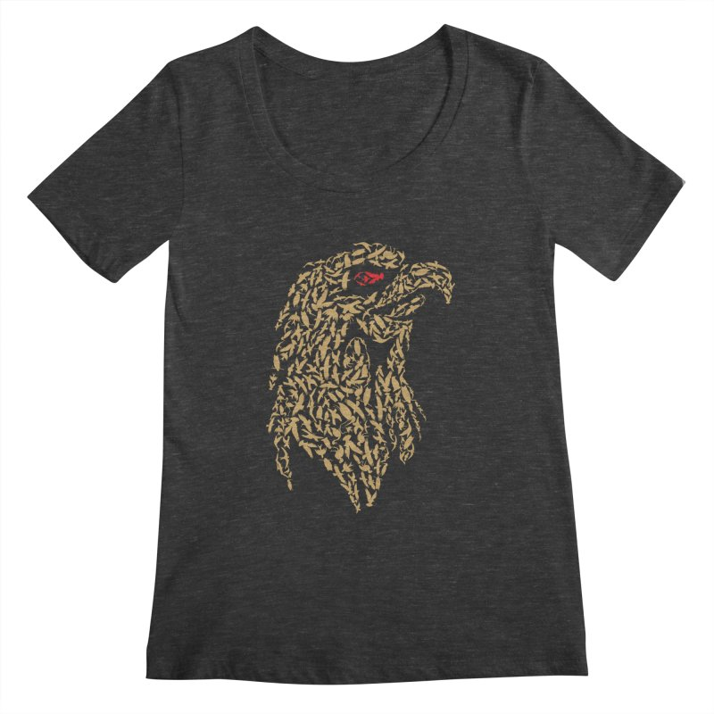King Of Birds Women's Scoopneck by blackboxshop's Artist Shop