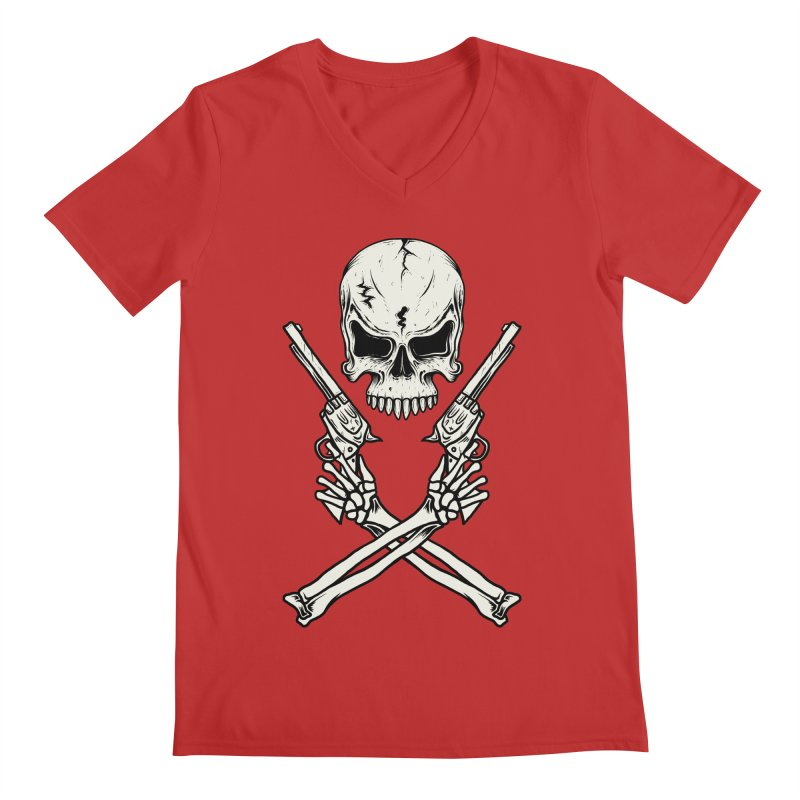COLT 45 CROSSBONES Men's V-Neck by blackboxshop's Artist Shop