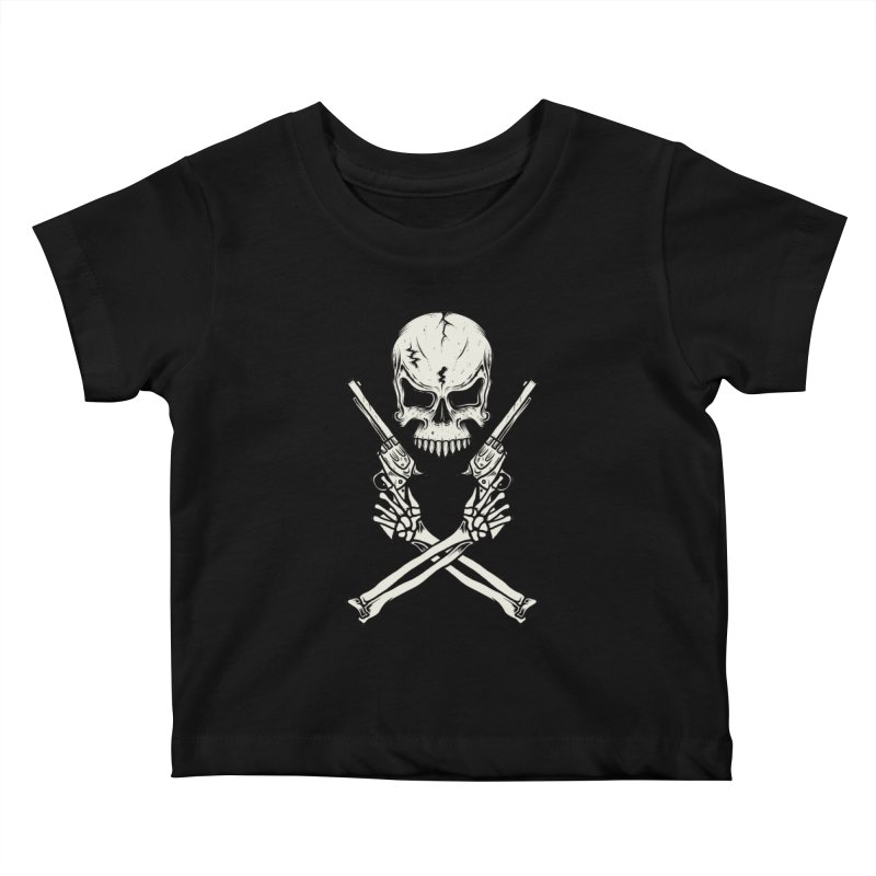 COLT 45 CROSSBONES Kids Baby T-Shirt by blackboxshop's Artist Shop