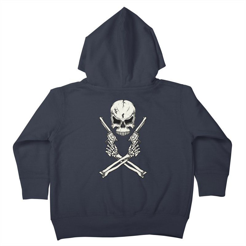 COLT 45 CROSSBONES Kids Toddler Zip-Up Hoody by blackboxshop's Artist Shop