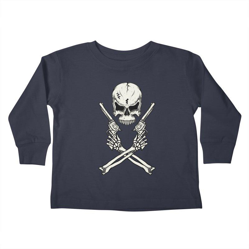 COLT 45 CROSSBONES Kids Toddler Longsleeve T-Shirt by blackboxshop's Artist Shop